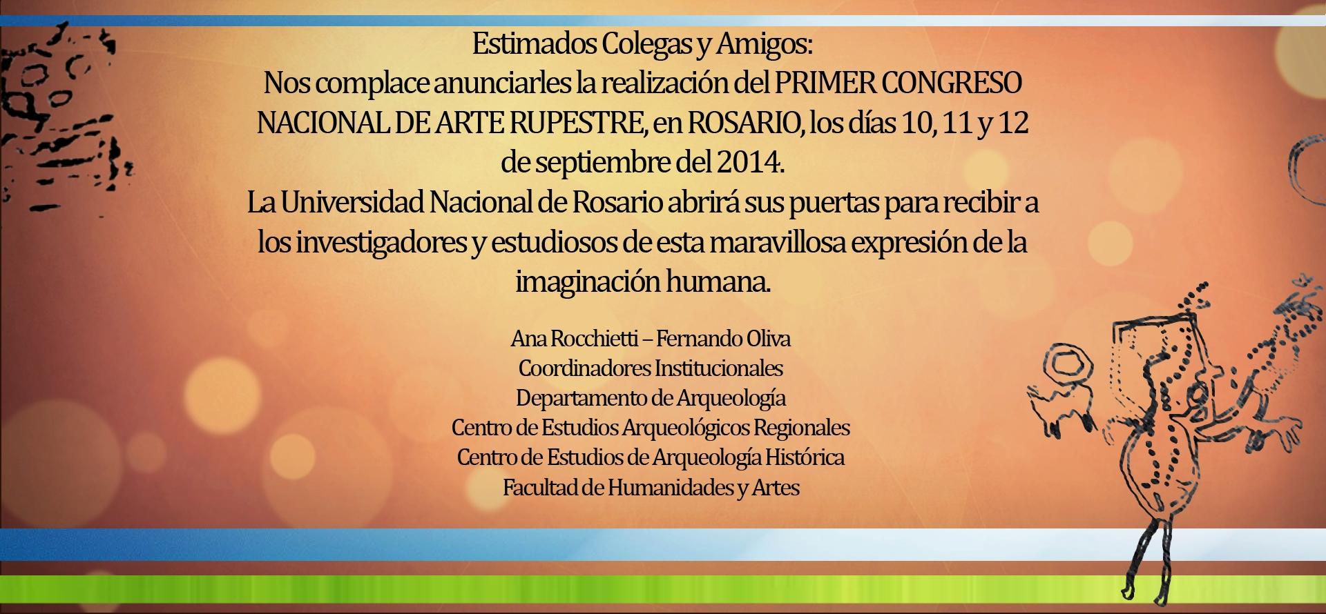 Primer Congreso Nacional De Arte Rupestre